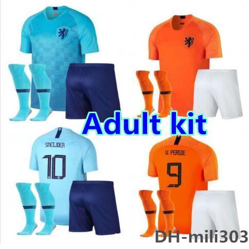 2019 Hollanda futbol forması kitleri 18 19 20 Hollanda hollanda DE JONG ROBBEN SNEIJDER V.Persie home away futbol forması üniforma