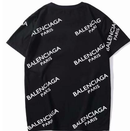 NEWAAABalenciaga 2019 новый хлопок высокого качества бутик мужчин женщин моды случайные короткими рукавами футболки рубашки поло Бесплатная доставка C30