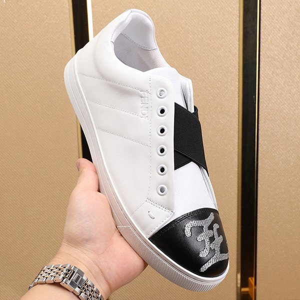 Leder BelegONS Sneakers Herrenschuhe der neuen Ankunfts-Leichtbau Luxus Design-Typ Schuhe mit Origin Box Low Top Plus Size Casaul Herren Schuhe