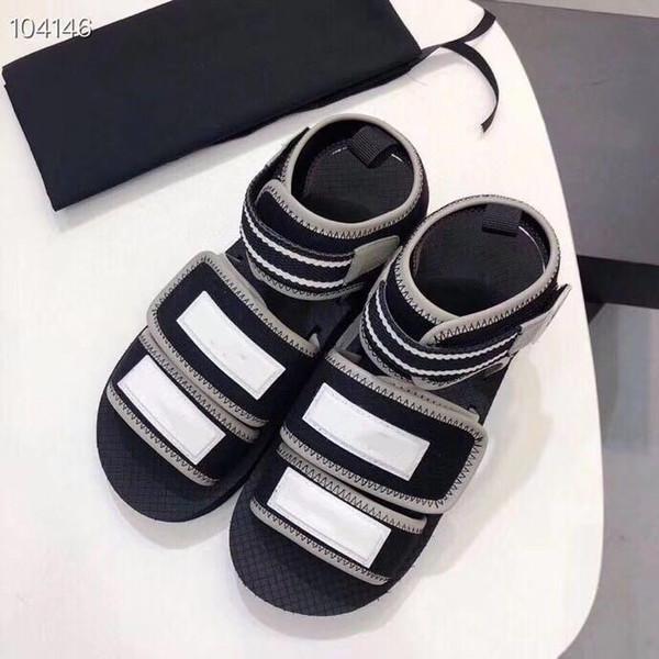 Kadın Kumaş Sneaker Sandalet, 2019 İlkbahar Yaz Koleksiyonu Kordon Katır Sandalet Siyah ve Gri Yaz Plaj Ayakkabı Bayanlar için