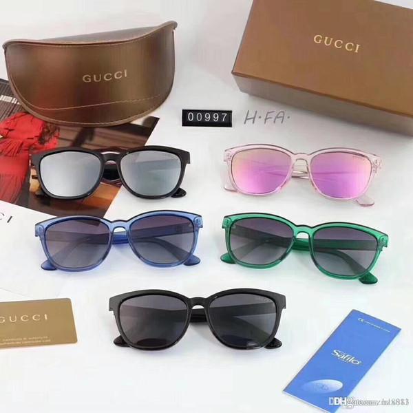 Ms 2018 nouvelle marque internationale de luxe, lunettes de soleil à monture polaroid super légères et favori en vogue de la membrane à lustre partiel, cinq couleurs