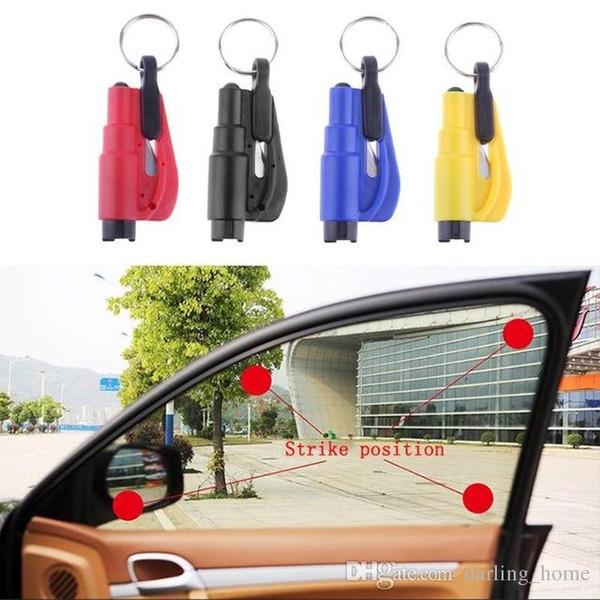 7 Colors 3 in 1 Emergency Mini Safety Hammer Auto Car Window Glass Breaker Gadgets Seat Belt Rescue Hammer Escape Tool