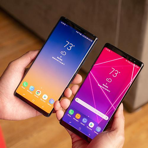 Goophone Note 8 Note 9 Cell Phones unlocked phone quad core 1GB ram 16GB rom 6.4inch full Screen Show 64GB fake 4g lte Android Smartphone