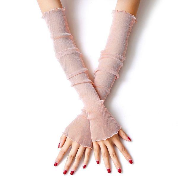 Mädchen Frauen Lace Gold und Silber Sonnencreme Eis Ärmel dünne Mesh Socken Fußbedeckung Dual-Use-Ice Silk Arm