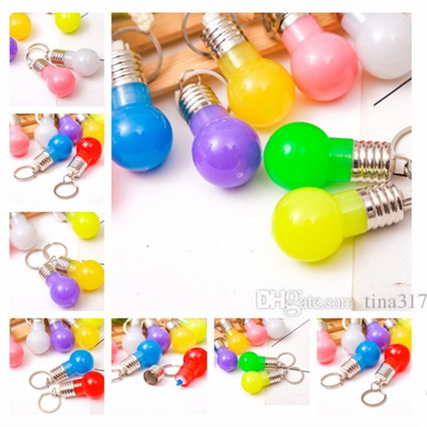 Mini ampul anahtarlık, renk anahtarlık LED anahtarlık çanta kolye çocuk oyuncak hediye Promosyon giftsT2C5033
