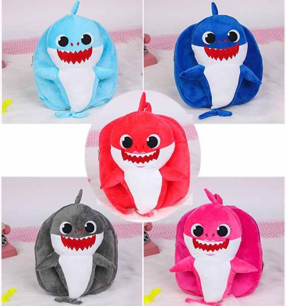 BABY SHARK Kids Backpacks School Shoulders Backpack Smile Happy SHARKS Cartoon toddler Plush Kindergarten Boys&Girls Plush Mochilas bookbags