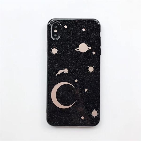 Einteiliger TPU Telefonkasten reizend und Art und Weise für iPhone 6S 7 8 P X XS Schöne rückseitige Abdeckung des sternenklaren Himmel Entwerfer-Telefons