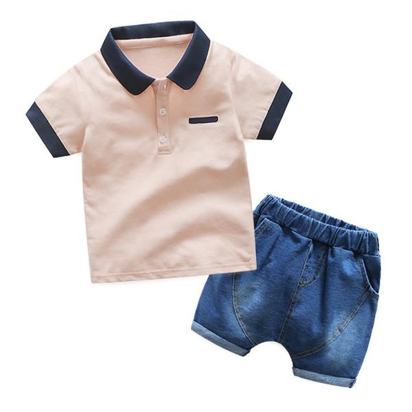 good quality 2019 Boys Clothing Set Summer Baby Casual Short Sleeve Shirt+Shorts 2pcs Outfits Kids Clothes Children Clothing Set