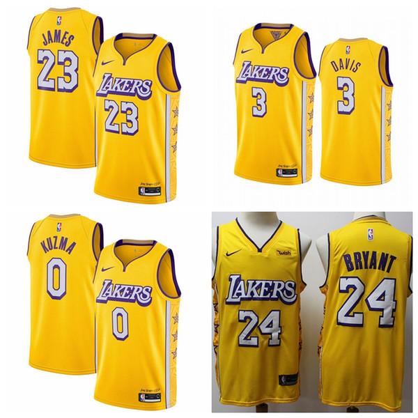 2019 30 New Hot Lebron James Anthony Davis Kobe Bryant Los Angeleslakers 2019 20nba Swingman Jersey Cityedition Basketball Jerseys From