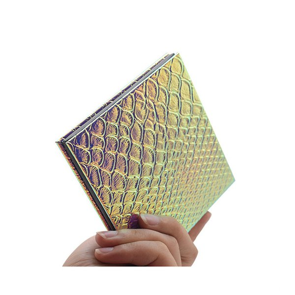 DIY Renk Değiştirilebilir Makyaj Paletleri 3.9 * 3.9 * 0.39 inç Balık Ölçekli Desenler Dolum Palet Boş Manyetik Göz Farı Pudra Fondöten Tepsi
