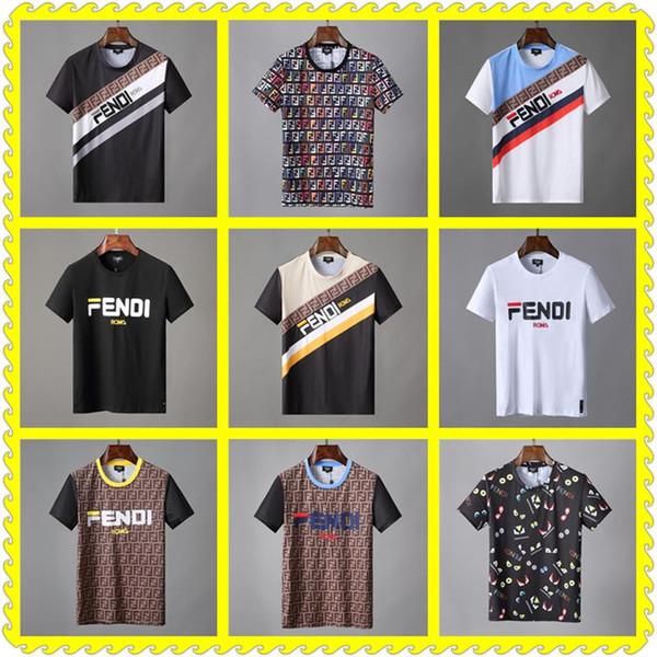 CHEAP Summer Brand Designer T Shirts Mens Tees T Shirt Brand Letter Pattern Mens Clothing Short Sleeve Tshirt Casual T-shirt