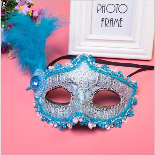 BXLYY Explosion Halloween Makeup Party Venice Sticker Painted Princess Party Mask Christmas Mask Wedding Decoration Unicorn.7z