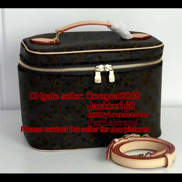 womens Small NICE BB travel cosmetic box M42265 M47280 case bag tote makeup purse CROSS body handbag luxury M41114 N60024 N47516 M41348 24cm