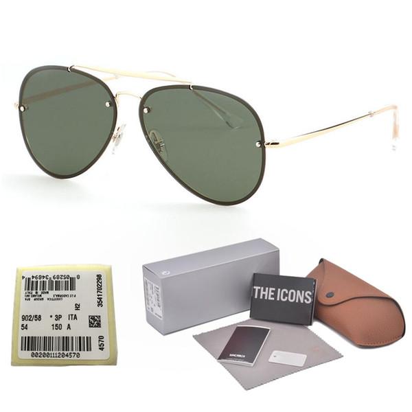 Brand design Unisex Pilot Sunglasses Men Vintage Double-Bridge Sun glasses For Women men Driving Anti-UV Goggles with Retail case and box
