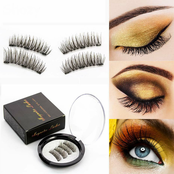 Magnetic Eyelashes Magnets Handmade 3D 6D Magnet Lashes Natural False Eyelashes Comfortable Makeup With Gift Box-24P-3