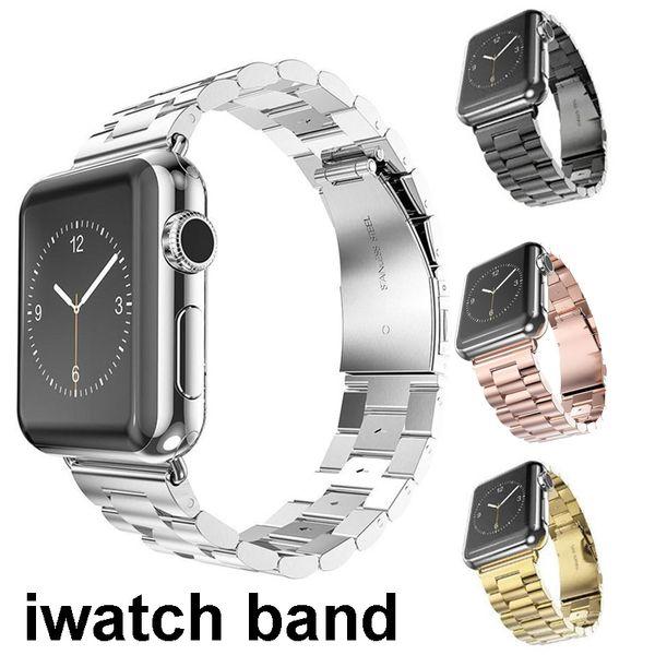 Stainless Steel Band Strap For iWatch series 4 3 1/2 Apple Watch Metal Bracelet Link for Men Women Watchbands Wrist 38mm 42mm 40mm 44mm
