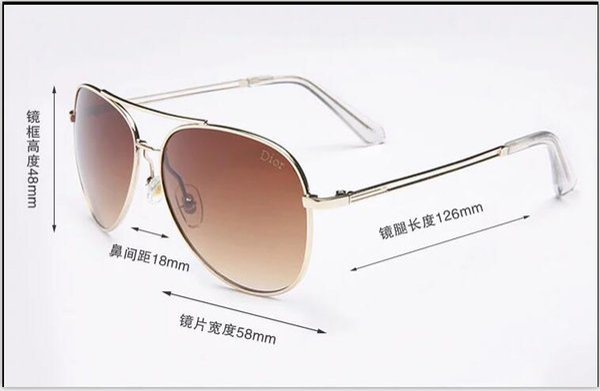 caldo libero marchio di moda della nave prove occhiali da sole retrò uomini d'epoca del progettista di marca lucido telaio in oro laser logo donne di alta qualità con