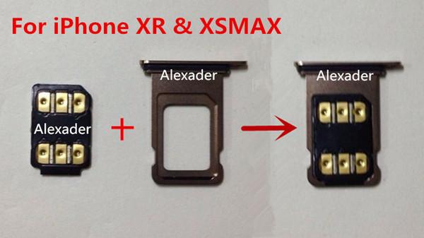 Adhésif double face gratuit DHL 3M BLACKSIM Carte de déverrouillage avec menu contextuel automatique pour iPhone 6 6S 7 8 X XS XR XSMAX