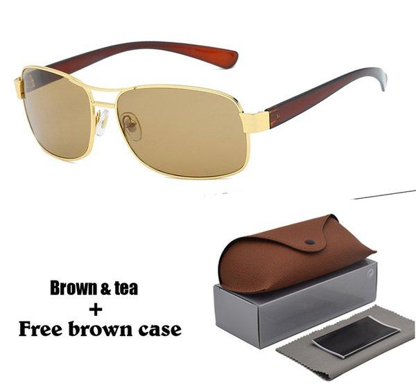 Высокое качество бренда дизайнер солнцезащитные очки для мужчин, женщин сплав оправа uv400 объектив классические спортивные вождения солнцезащитные очки с розничной коробке и случае