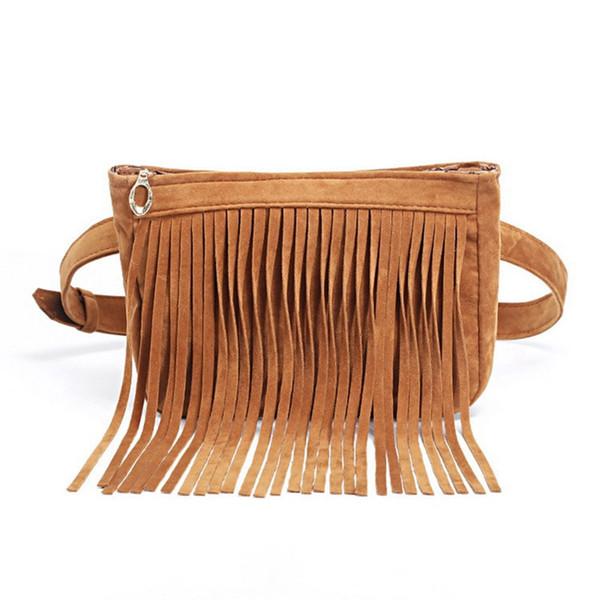 Autumn And Winter Full Suede Fringe Tassel Handbag For Women Shoulder bag Crossbody Messenger bag Hand bag Shopper