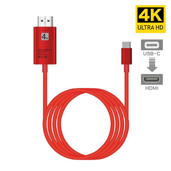 4K USB 3.1 USB-C Type C to HDMI cable HDTV hdmi Adapter for Lenovo ThinkPad X1 2018 MacBook MacBook Pro samsung S8 S9 NOTE8