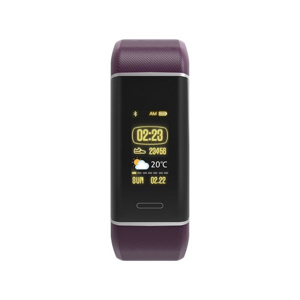 W7 Connected GPS Watch Bracelet Connected Screen Display Color Fitness Activity Tracker IP67 Waterproof for Heart Rate Monitorin