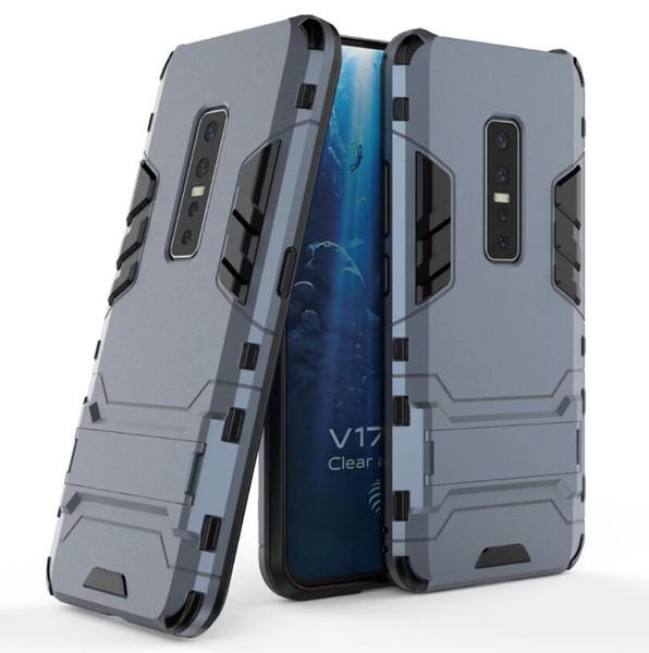 Para etiqueta Caixa colorida de protecção Vivo V17 Pro Classic Case Ultra-Thin dura do PC Back Cover de luxo para Vivo V17 Pro