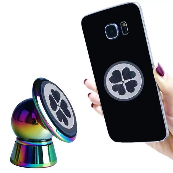 360 ° Rotasyon Manyetik telefon tutucu Döner Mobil Dirsek Evrensel Araba Cep Telefonu Standı Tutucu Mini Araba Montaj