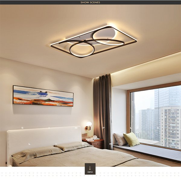 Led Ceiling Light Ideas Simple Modern Dining Room Living Room Bedroom Ceiling Light Acrylic Rc Dimmable Indoor Lighting Led Pendant Lamps Pendant