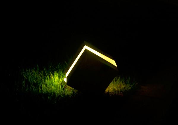 Acheter Carré Fissure Bois Lampe Arbre Souche Résine Jardin Lumière Décor  Intérieur Ligthing Noël Nordique Cube Bougie Simple Lampe De Table Maison  De ...