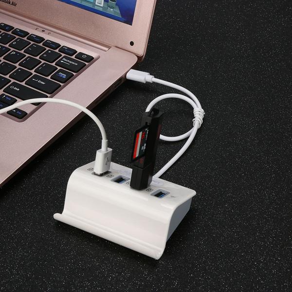 Nuovo Tipo C ABS ad alta velocità Mini 4 porte USB HUB 3.1 OTG Con il supporto del telefono per il computer portatile Macbook Smartphone PC iMac HUB Adapt 30
