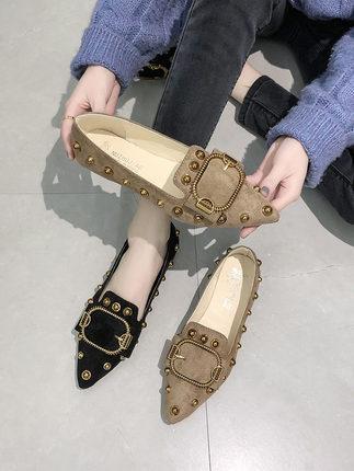 Beanie chaussures femme chaussures sauvages sauvages femmes plat net printemps 2019 nouveaux mocassins