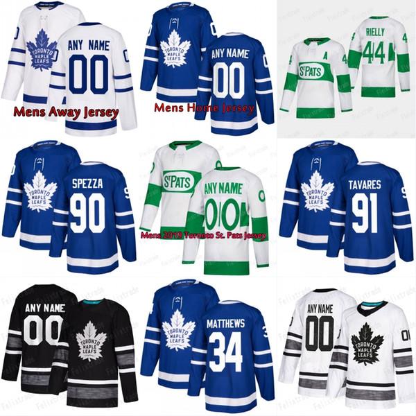 2019 New 91 John Tavares Toronto Maple Leafs Trikot 16 Mitch Marner 34 Auston Matthews Herren Damen Jugend Kinder Hockey Trikots