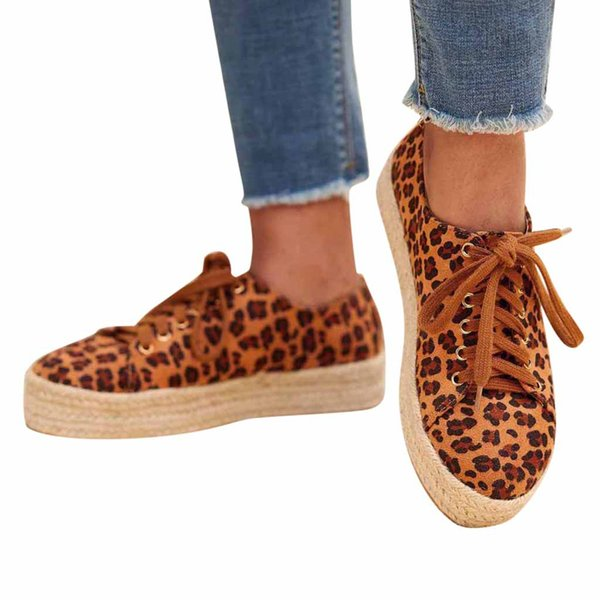 MUQGEW leopard lazy shoes for woman butterfly-knot Non-slip lace-up flats sneaker woman shoes summer cover heel lazy loafers