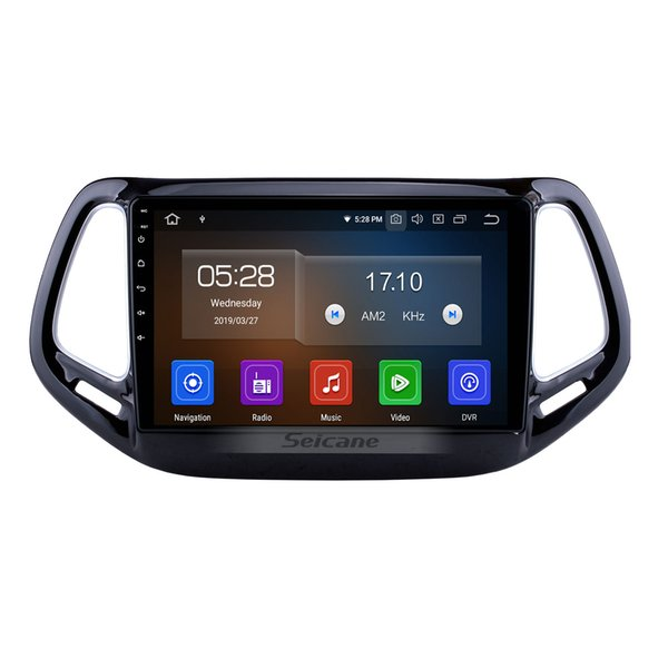 Android 9.0 10.1 inch HD Touchscreen Car Radio for 2017 Jeep Compass With Mirror Link WIFI GPS Navigation USB Support 4G Car dvd SWC OBD2