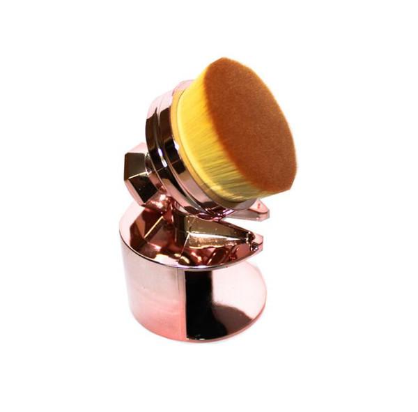 Professional Electroplate Seal Type Make-up Brush Fashion Luxury Soft Foundation Blush Powder Brushes Beauty Tools 60pcs