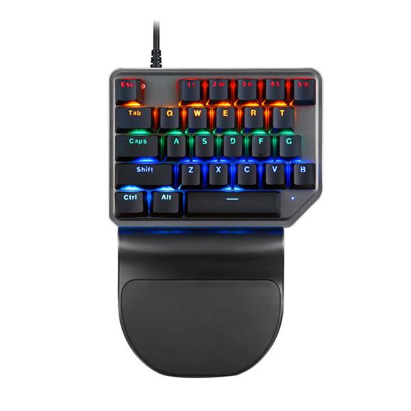 MOTOSPEED kabelgebundene Tastatur-Einhand-Mini-buntes Beleuchtungsspiel für DOTA Pubg 8 # M