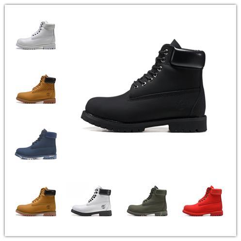 Timberland Desenhador de moda TBL Botas 10061 Clássico Para Mulheres Dos Homens de Trigo Preto Branco Exército Verde Mens Inverno Botas de Trabalho Sapatos de Tamanho 36-45
