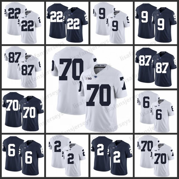 Penn State Nittany Lions Jerseys 22 John Cappelletti Allen 9 Lucas Golden 87 Kyle Carter 70 Mahon blocks College Football Jersey