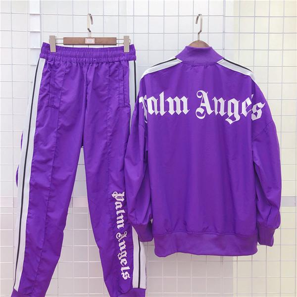 Nuovo Palm Angeli del rivestimento delle donne degli uomini di qualità Autunno Inverno Streetwear Mens alta Designer pantaloni giacche di marca tute Jogger B100891K