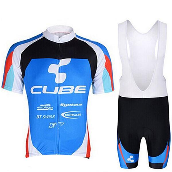 CUBE Equipe Ciclismo Jersey Set verão Respirável manga Curta camisa de Bicicleta bib shorts terno Bicicleta Ao Ar Livre Sportswear Maillot Ropa ciclismo