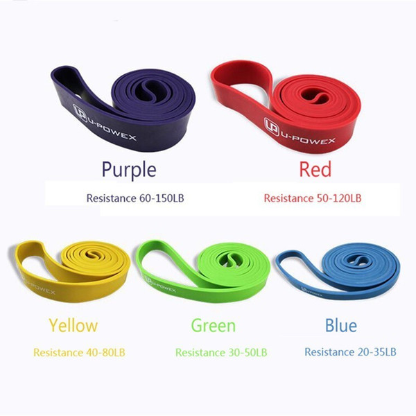 XC 5 Level Resisatnce Bands 208CM Natural Latex Expander Rubber Pull Rope To Tone Leg and Lift Butt Workout Fitness Equipment