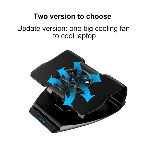 VIPATEY Hollow Design Notebook Cooler Stand Single Led Cooling Fan Two USB Port Laptop Cooling Pad For 17inch Tablet Laptop