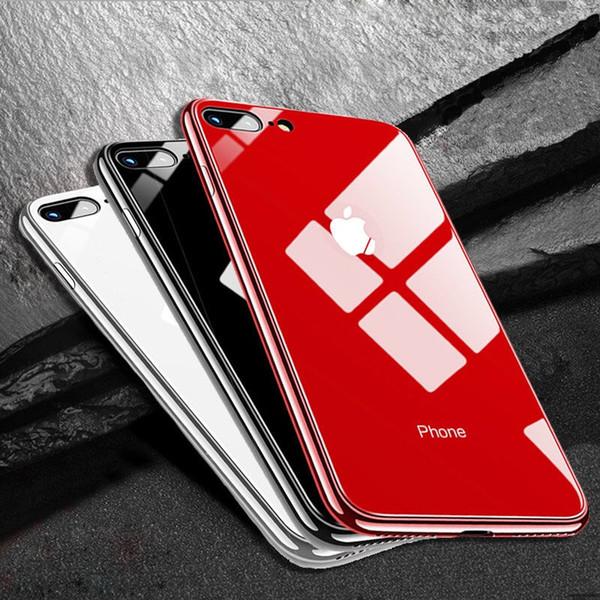 Glas Fall für iPhone XS Max XR X Glas Handy Cover Schutzhülle für iPhone 6 6s 7 8 Plus X 10 iphone6 6s iPhone7iphone8 XR Fällen