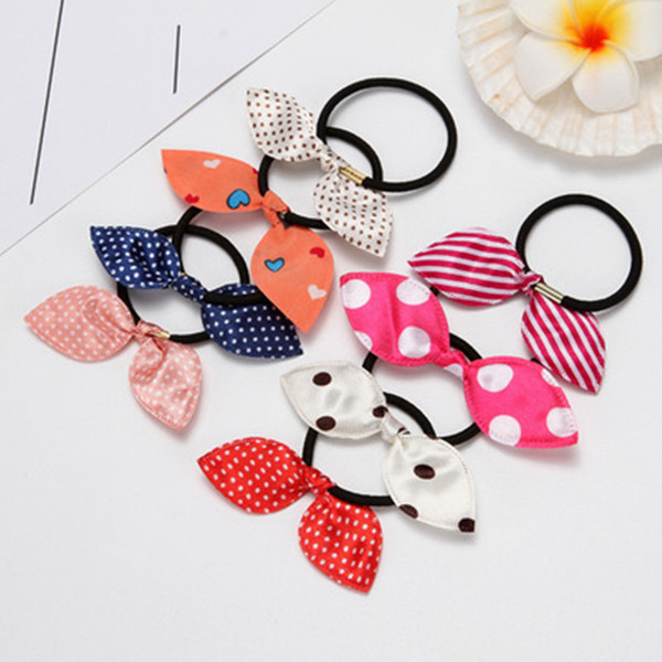Hair Ring of The Rabbit Ears Splatter Hair Clip Party Supplies Princess Fairy With Cloth Art Head Rope Kids Accessories Small Gifts Hairband