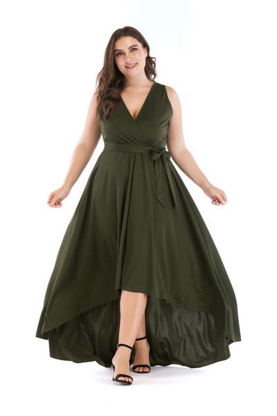 Plus Size Dress Women Dresses Summer Dress Show Thin Style Long Dress Women  Clothes Pure color China women clothing manufacturer Hot Selling Brides ...