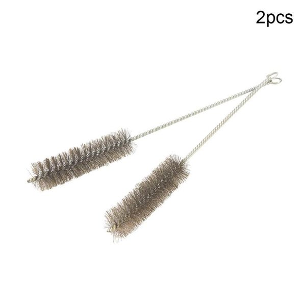 best selling High Quality 2pcs 5pcs Wire Tube Brush 0.8cm 2.5cm 3cm Diameter Stainless Steel Wire Cleaning Brush 30cm Total Length Hand Tool