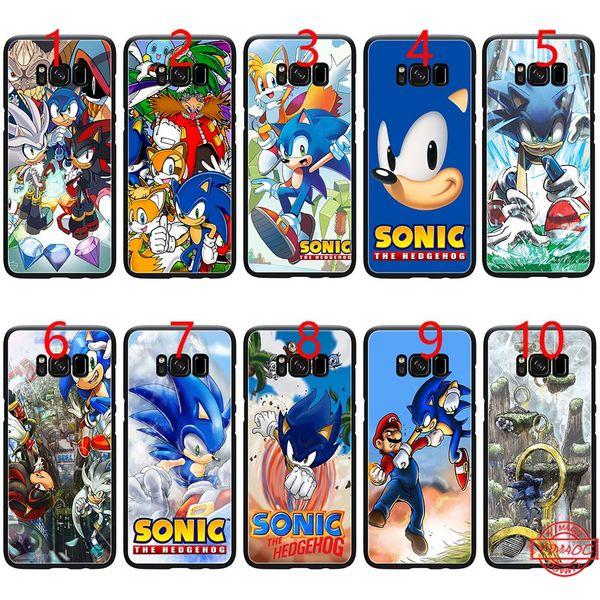 Sonic the hedgehog série soft black tpu phone case para samsung note 9 8 s8 s9 mais s6 s7 edge cobrir