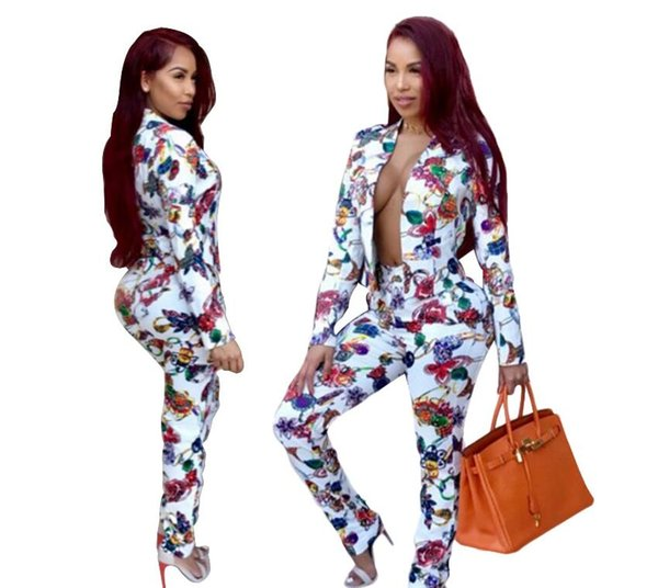 Women Tracksuit Sexy Fashion Splicing Color Sports Suit Two-piece Zipper Hoodies Pencil Pant With Telescopic belt