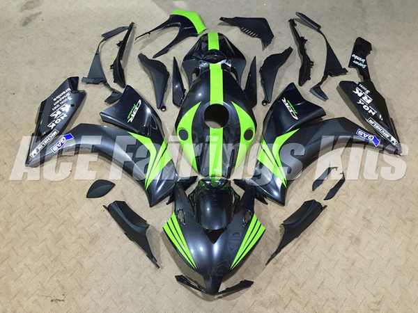 Nueva motocicleta ABS Kits de carenados + cubierta del tanque Ajuste para HONDA CBR1000RR 12 13 14 15 16 2012 2013 2014 2015 body set custom carenado negro verde